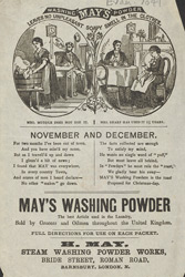 Advert For May's Washing Powder